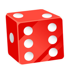 Casino dice playing cubes with dots number vector