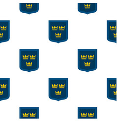 coat of arms of sweden pattern flat vector image