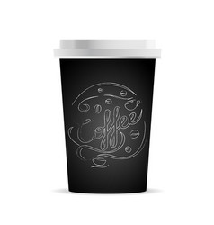 coffee cup template with coffee and coffee vector image