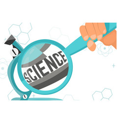 colorful with scientific instruments vector image