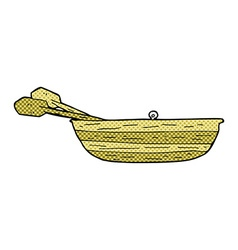 Comic cartoon rowing boat vector