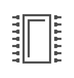 computer chip icon vector image