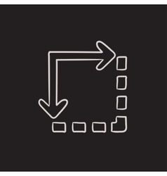 Content extension sketch icon vector image