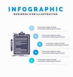 contract check business done clip board vector image