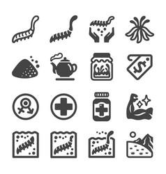 cordyceps icon set vector image