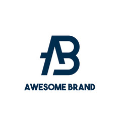 Creative modern monogram logo letter a b simple vector