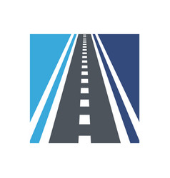 Curved road logo combination highway vector