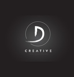 D brush letter logo design artistic handwritten vector