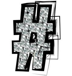 Diamond Font symbol vector image