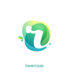 ecology lowercase letter r logo overlapping vector image