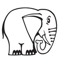 elephant logo black and white vector image