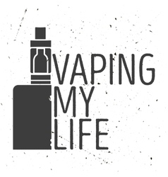 Emblem or poster of an electronic cigarette vector