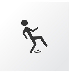 falling human icon symbol premium quality vector image