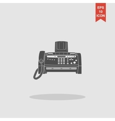 Fax machine Flat design style vector image