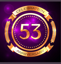 Fifty three years anniversary celebration with vector