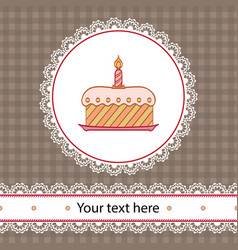 First birthday cake vector