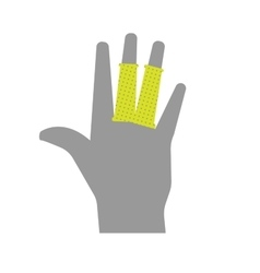 Flat icon injured fingers with bandage vector