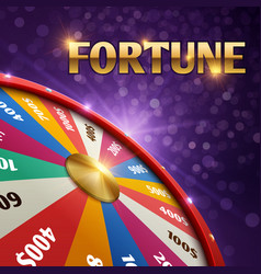 Gambling background with 3d fortune chance vector