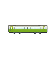 green passenger train wagon railway carriage vector image