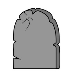 Halloween creepy scary grave rip symbol icon vector