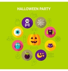Halloween party infographics concept vector