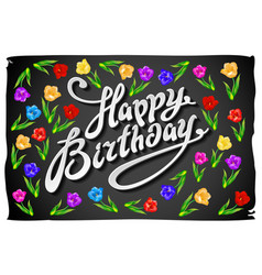 Happy birthday card Celebration background with vector