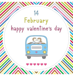 Happy valentine s day card16 vector image