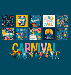 Hello carnival set for vector