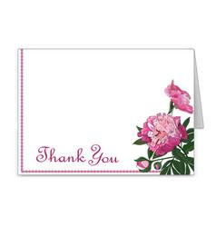 horizontal card with peony flowers invitation vector image