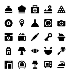 Hotel Services Icons 1 vector