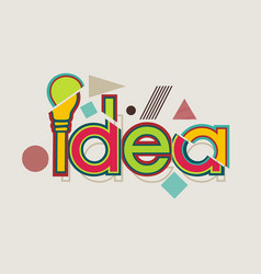idea concept with a bulb retro style vector image