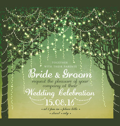inspiration card for wedding vector image