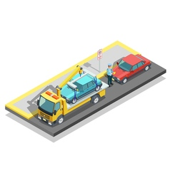 Isometric Parking Composition vector