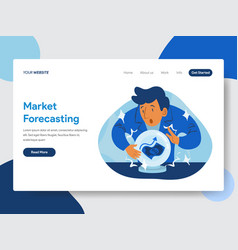 Market forecast with crystal ball vector