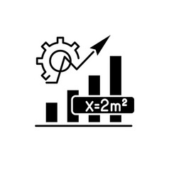 mathematics formula black icon sign on vector image