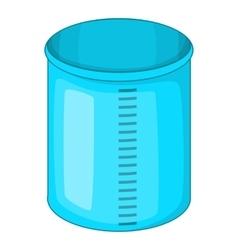 Measuring jug icon cartoon style vector