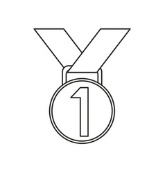 Medal award winner sport thin line vector
