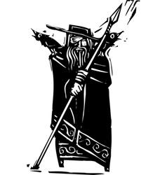 Norse God Odin vector