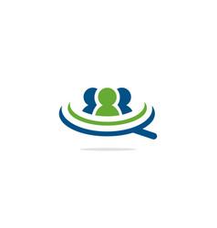 people group talk logo vector image