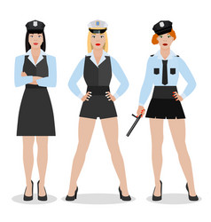 police girl image vector image