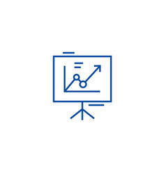 presentation boardflip chart line icon concept vector image