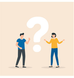 Puzzled people searching answers and problem vector
