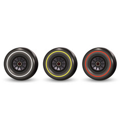 Race car tyre vector