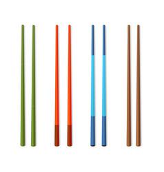 realistic detailed 3d food chopsticks set vector image