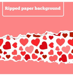 rippedheart vector image vector image