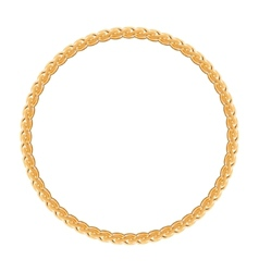 round frame - gold chain on white background vector image