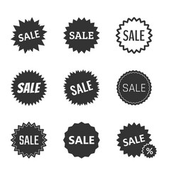 Sale tags set sale badges and icons in vector
