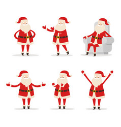 santa collection of icons vector image