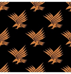 seamless pattern a stylized flying eagle vector image