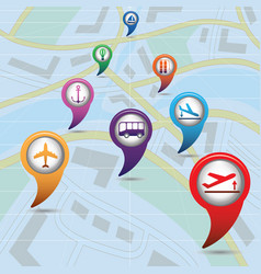 set of icons for travel services vector image